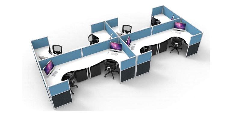 module bàn làm việc 8 người giá rẻ